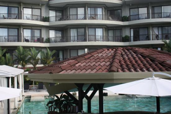 The Royal Corin Thermal Water Spa & Resort: View of hotel from pool area
