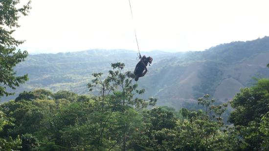 Osa Canopy Tour : The Tarzan swing is a MUST do! We even saw monkeys before we started swinging!