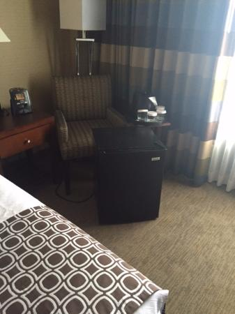 Crowne Plaza Hotel Kansas City Downtown: So much for using that chair.