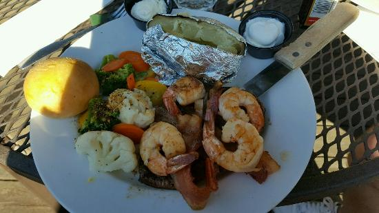 Jasper, IN: Filet mignon and shrimp