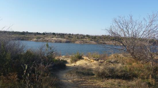 Colorado City, TX: at the water through a path from our cabin