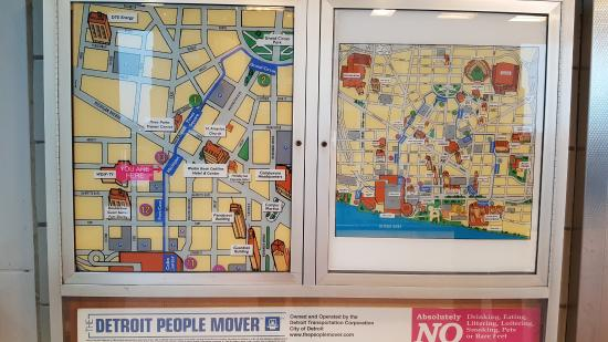 people mover map - Picture of Detroit People Mover, Detroit ...