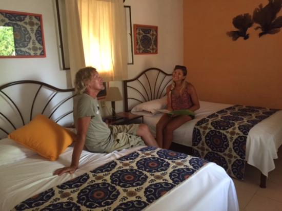 Santa Elena, México: Our cabin room with 2 beds