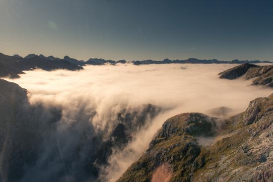 Fiordland National Park, Nueva Zelanda: photo from the helicopter