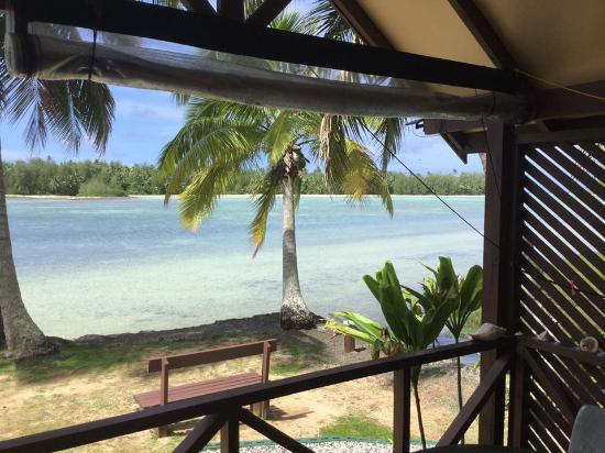 Ngatangiia Cook Islands  City new picture : Ngatangiia, Cook Islands: view from balcony in Room 4