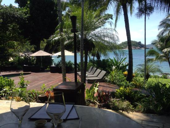 Bedarra Island, Australia: View from our table at lunch. Just stunning.