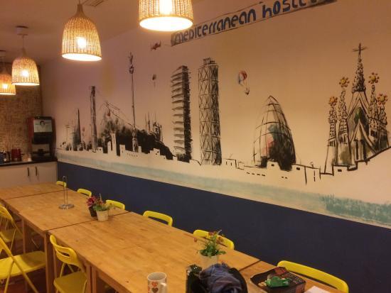 Mediterranean Barcelona Youth Hostel: Comedor