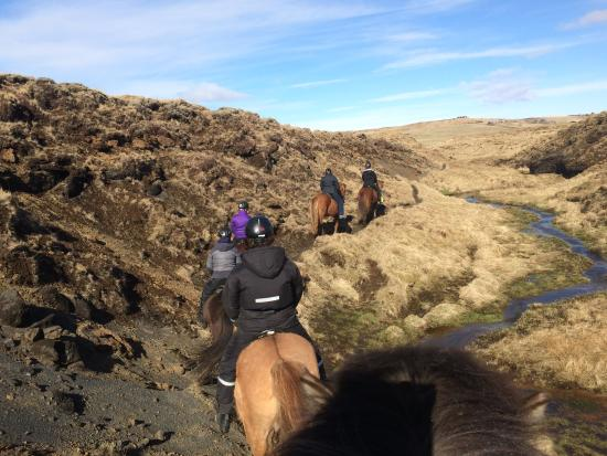 Hella, Islandia: Secret Grand Canyon ride in Hestheimar