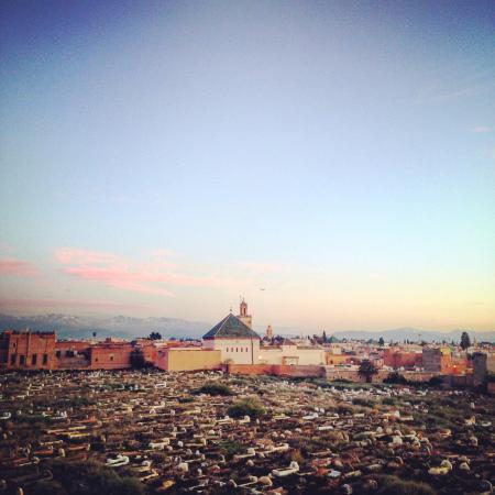 Zamzam Riad: Views of the Medina from the rooftop terrace.