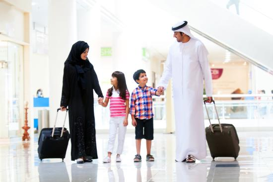 Abu Dhabi, United Arab Emirates: Shopping in Summer