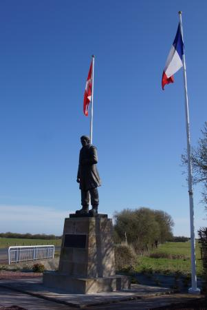 Sainte-Marie-du-Mont, France: A memorial to Danish seamen who took part in the Normandy Invasion