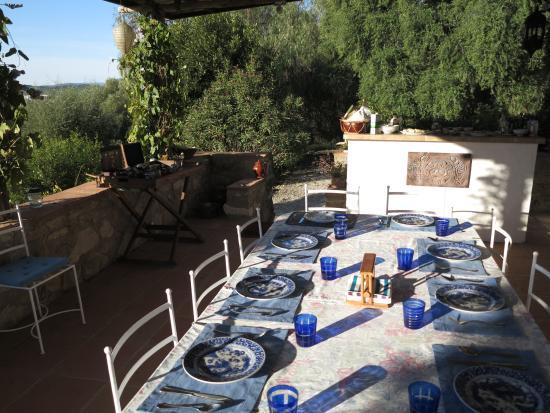 El Diplomatico Feo : La terrasse petit déjeuner