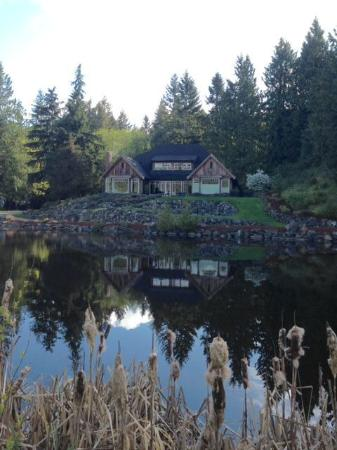 Ambraden Pond : View of house from across the pond
