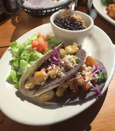 Westhampton Beach, NY: Red, White and Blue Tacos = YUM
