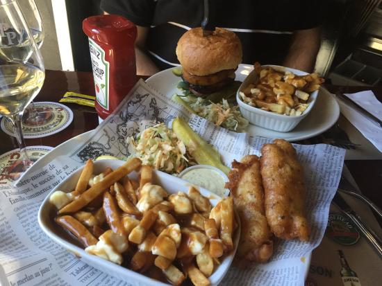 Best pub food fish and chip et burger wings and for Best fish food