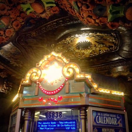 Glitterati Tours: The ornate entrance into Walt Disney's El Capitan Theatre in Hollywood, Los Angeles.