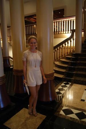 The Driskill: Everything in this hotel is detailed. Look at the floor, stairway, and columns. All are gorgeous