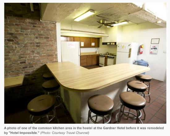 communal kitchen in our hostel area picture of gardner hotel el rh tripadvisor co za