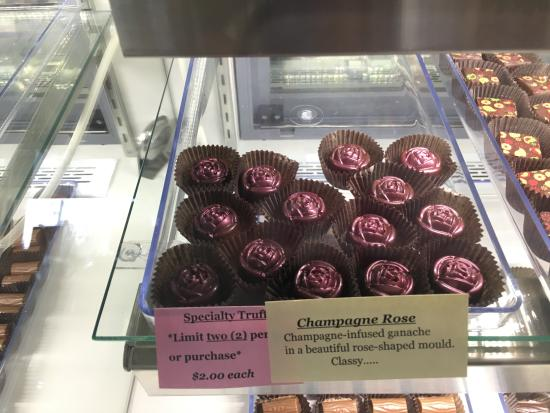 Lake Placid Chocolatier: Roses and chocolate in one; best of both worlds.