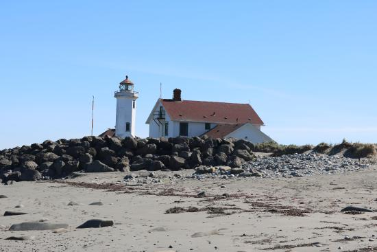 Fort Worden State Park: Point Wilson from the beach on the north side.