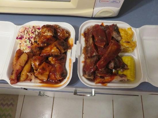 North Palmetto Point, Eleuthera: plenty of ribs and chcken
