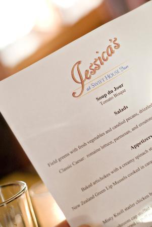 Jessica's at Swift House Inn Restaurant: Jessica's menu