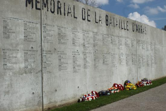 Carriere Wellington, Memorial de la Bataille d'Arras