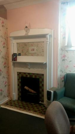 Sistersville, WV: Original fireplace, shame the gas logs can no longer be used