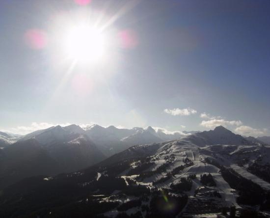 Rennweg, Østerrike: Blick von Aineck nach Tschaneck mit Pisten