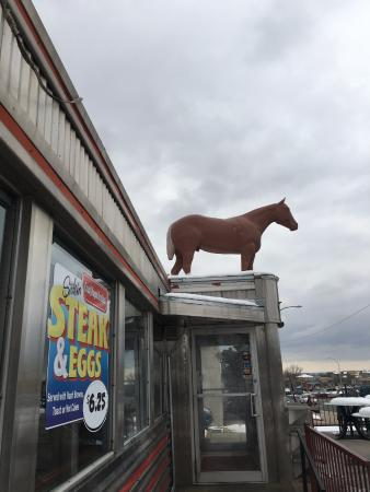 Davies Chuck Wagon Diner: horse on roof