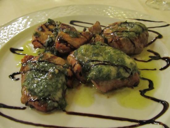 Foce, İtalya: filetto di maiale al finocchietto