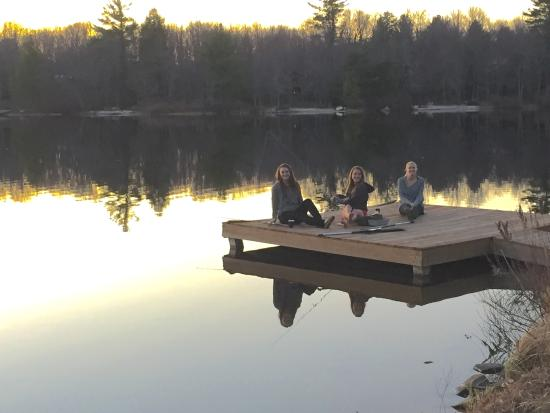 Pocono Pines, PA: First sunset on dock