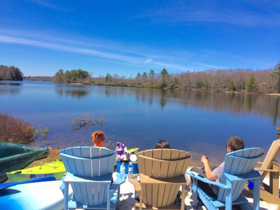 Pocono Pines, PA: Private beach area