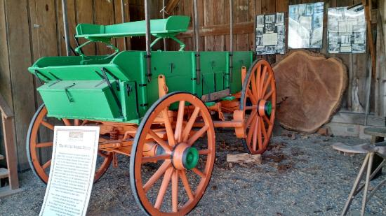 Aurora, OR: Wagon in outside display building.