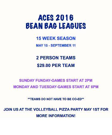 Superior, WI: 2016 Summer Bean Bag Leagues