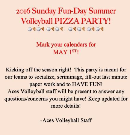 Superior, WI: 2016 VB Pizza Party