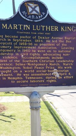 Dexter Parsonage Museum - Dr. Martin Luther King home: Historical Marker