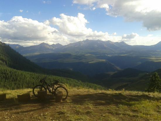 Ridgway, CO: Telluride to Gateway: View from the first Hut