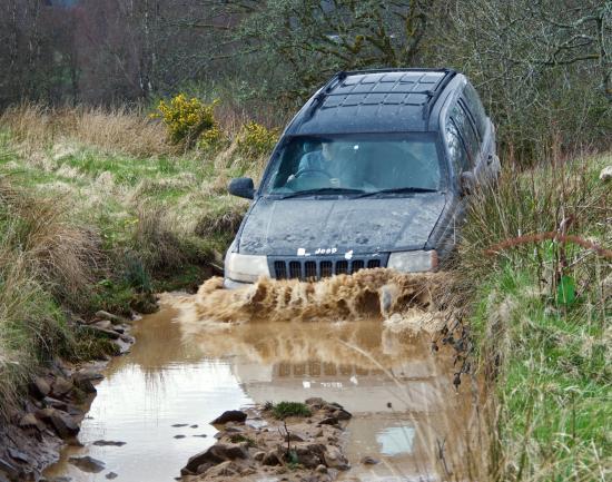 Gartmore, UK: Euan tackles the water