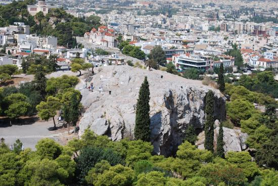 Areopagus Hill from Acropolis. - Picture of Areopagus ...