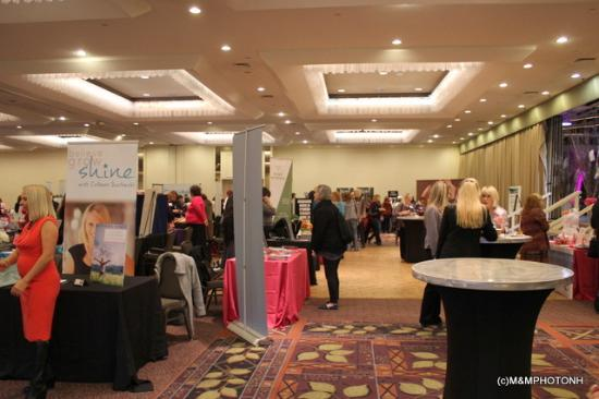Radisson Hotel Manchester: Our exhibitor area - the entire ballroom
