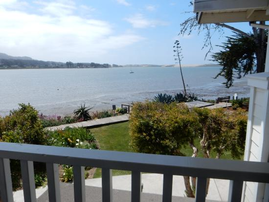 Baywood Park, CA: The bay and walking path outside our balcony.