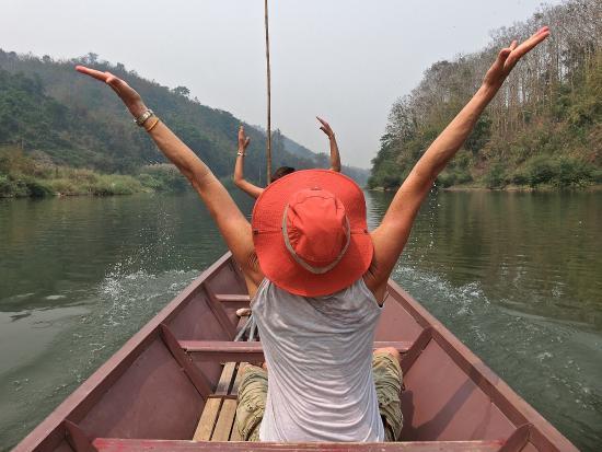 Ban Xieng Lom, Laos: Feliz yo!!!!