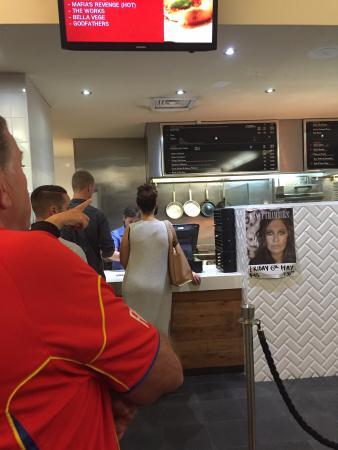 Inverell, Australia: Smallest menu board ever?