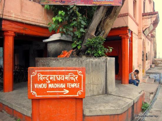 Varanasi, India: Bindu Madhav temple