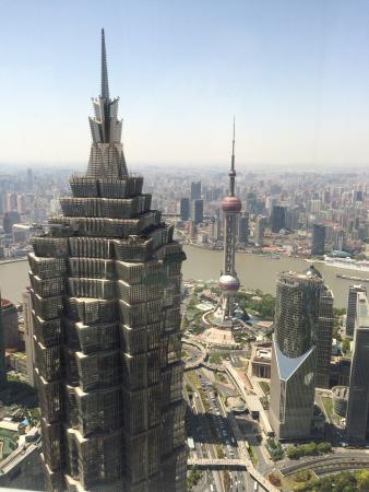 Park Hyatt Shanghai: View from the bar at 87th floor