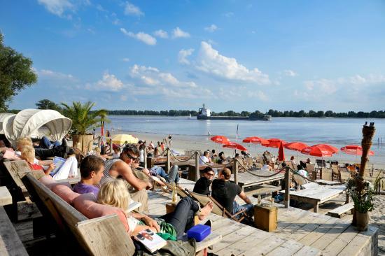 Hamburg, Tyskland: Beachclubs