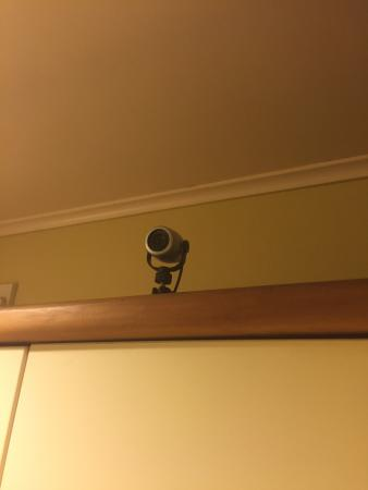 Renwick, Selandia Baru: Surveillance camera in kitchen