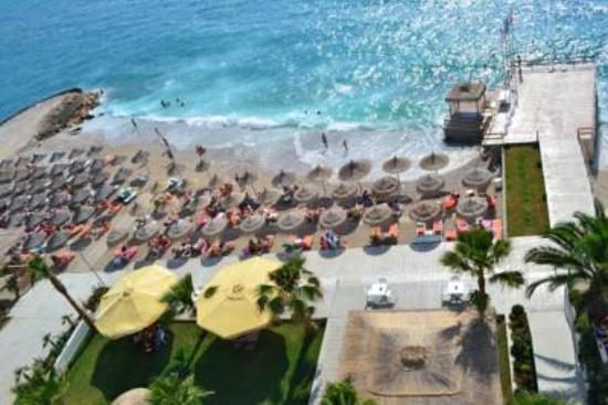our private beach picture of saranda international hotel saranda rh tripadvisor com