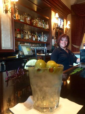 Florence, IN: Jojo at the front bar-makes a great dirty martini!!  Carpe diem!!